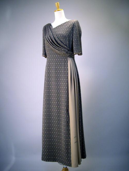 北斎模様絹服(kimono-fuku)ドレス-1