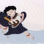 さくら工房 小絹布(koginu)絵:童 風神