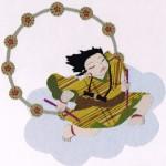 さくら工房 小絹布(koginu)絵:童 雷神
