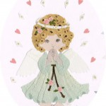 さくら工房 小絹布(koginu)絵:天使