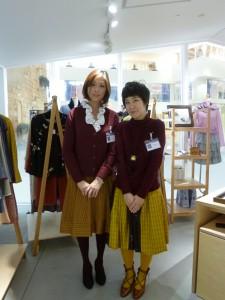 阪急うめだ本店 10階うめだスーク 絹服(kimono-fuku)と83才、初めての押し花絵展-7