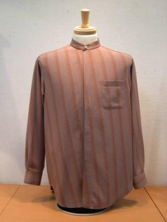 小紋 いかのぼり絣 紳士シャツ1