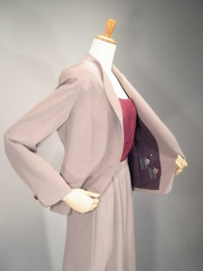 絹服(kimono‐fuku) しけ織 スーツ