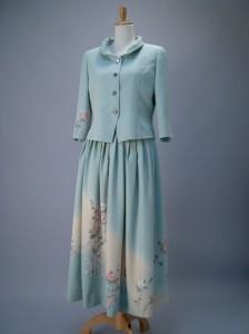 絹服(kimono‐fuku) 巻弼技法 付下げ フォーマルスーツ
