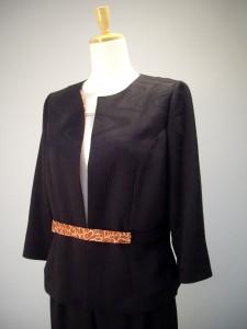 寿光織 黒 ジャケット-1