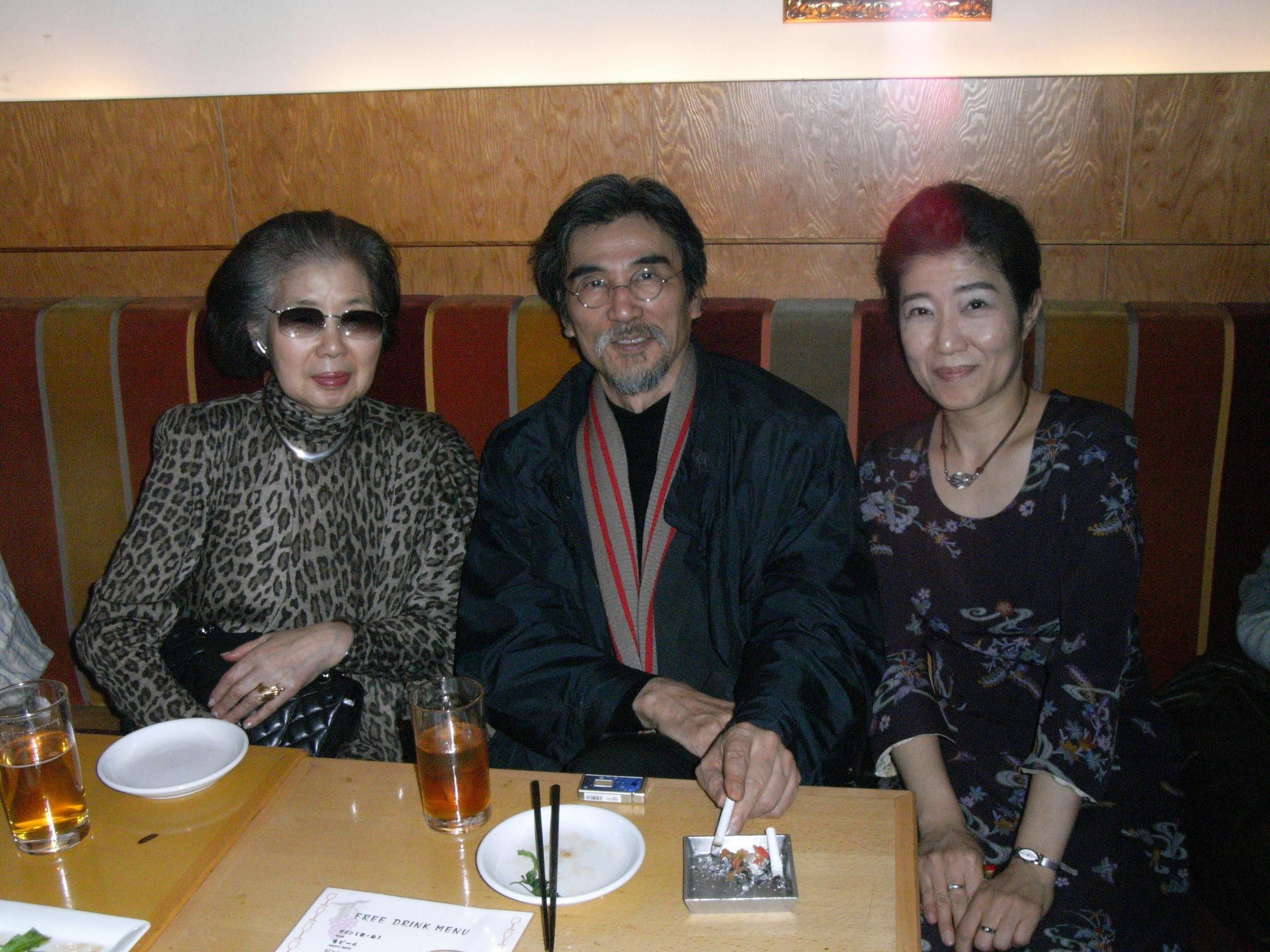 「連塾(2007年12月22日)」の二次会で植田いつ子先生とー2