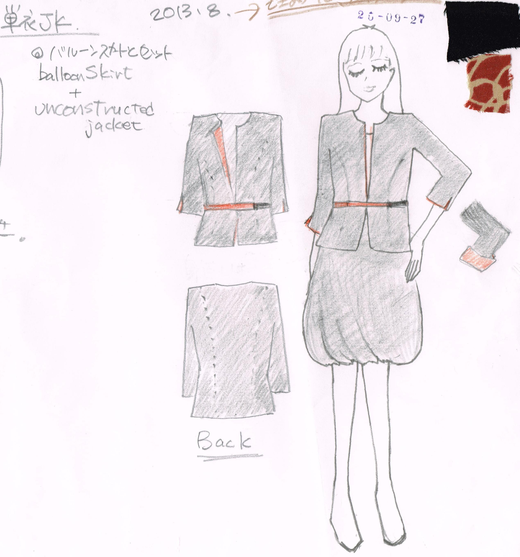 絹服(kimono‐fuku) DESIGN画