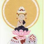 さくら工房 小絹布(koginu)ハガキ 普賢菩薩